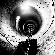 One of the tunnels for the new north/south metro line being built in Amsterdam. Image © Angelos Giotopoulos/Falcon Photo Agency.