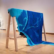 Sarah FitzSimons. Pacific Quilt (Part 1: Bering Strait - Tropic of Cancer), 2013. Cotton fabrics, thread, and batting.