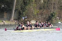 2012.02.25 Reading University Head 2012. The River Thames. Division 1. Abingdon School Boat Club A J15A 8+