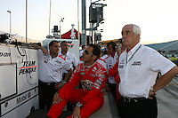 Helio Castroneves, Roger Penske, Firestone Indy 300, Homestead Miami Speedway, Homestead, FL  USA  10/10/08