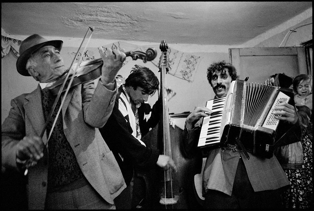 'Taraf de Hadouks' - renowned Gypsy musicians from Clejani, Wallachia, Romania. August 1996