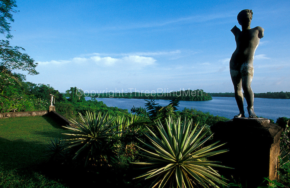 A view across Dedduwa Lake from the North Terrace.<br />