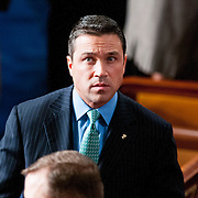 Rep. Michael Grimm (R-NY) is pictured before the start of the 113th Congress on Thursday, Jan. 3rd, 2013 in Washington. (Photo by Jay Westcott/Politico)
