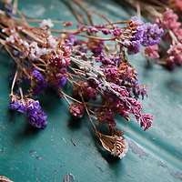 Dried flowers on a table