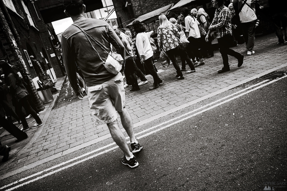 People in Brick Lane, London's East End
