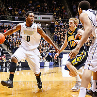 WEST LAFAYETTE, IN - JANUARY 27: Terone Johnson #0 of the Purdue Boilermakers dribbles the ball against the Iowa Hawkeyes at Mackey Arena on January 27, 2013 in West Lafayette, Indiana. Purdue defeated Iowa 65-62 in overtime. (Photo by Michael Hickey/Getty Images) *** Local Caption *** Terone Johnson