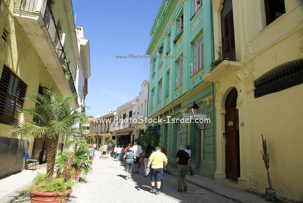 Havana, Cuba, Old Town, renovated buildings