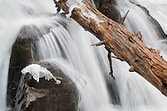 Cornwall, New York - Views of the Mineral Springs Brook waterfall in Black Rock Forest on March 27, 2015.