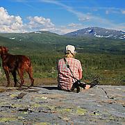 Slettberga. Skarvene og Roltdalen nasjonalpark. Fongen, 1440 m.o.h.
