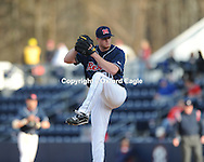 Mississippi pitcher Aaron Barrett vs. Louisiana-Monroe at Oxford-University Stadium in Oxford, Miss. on Saturday, February 20, 2010 in Oxford, Miss. Mississippi won 14-0..