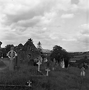 Cemetry at Ballyvoureen, Co Cork .14/07/1958. Irish photos of Ballyvourney, Baile Bhuirne  Co. Cork, Ireland.<br />