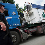 A road block 25km into the Greek/Turkish/Bulgarian border. Human trafficking is a common method for bringing in illegal immigrants. With these road blocks in place 24 hours a day, illegal immigrants are finding crossing into Greece is getting harder and harder. With statistics in 2012, from 130,000 illegal immigrants made it into Greece. After the new methods put in place this number has declined to 35,000 in 2013.