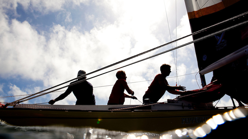Training late in the day at Argo Group Gold Cup 2010. Hamilton, Bermuda. 4 October 2010. Photo: Subzero Images/WMRT