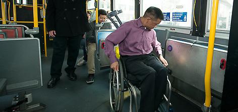 Images of passengers riding Muni Hybrid Bus | March 18, 2013