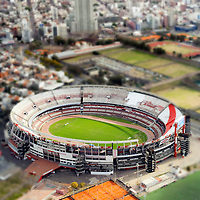USE ARROWS &larr; &rarr; on your keyboard to navigate this slide-show<br /> <br /> Buenos Aires, Argentina 22 August 2009<br /> Aerial view of the Estadio Monumental Antonio Vespucio Liberti, better known as El Monumental de Nunez or River Plate Stadium. <br /> It is the home venue of Club Atl&eacute;tico River Plate and is named after former club president Antonio Vespucio Liberti. El Monumental is considered to be the national stadium of Argentina.<br /> Photo: Ezequiel Scagnetti
