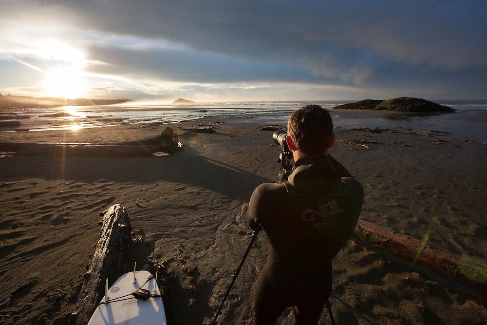 Leon, Photographer, Surf, Surfing West Coast, Sunrise, Tofino, British Columbia, Canada