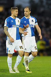 James Clarke of Bristol Rovers and Mark McChrystal of Bristol Rovers speak after the game - Mandatory byline: Dougie Allward/JMP - 07966 386802 - 08/11/2015 - FOOTBALL - Memorial Stadium - Bristol, England - Bristol Rovers v Chesham - FA Cup - Round One