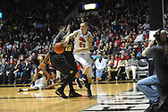 """Mississippi's Marshall Henderson (22) vs. Missouri at the C.M. """"Tad"""" Smith Coliseum in Oxford, Miss. on Saturday, February 8, 2014. (AP Photo/Oxford Eagle, Bruce Newman)"""