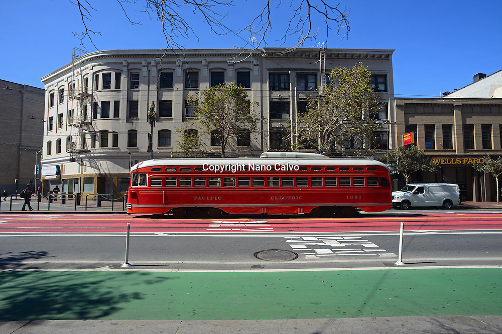 Pacific Electric, also known as the Red Car system, San Francisco.