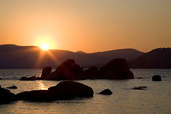 """Sand Harbor Sunset 2"" - This sunset was photographed at Sand Harbor, Lake Tahoe."