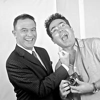 Spanish photographer KIKE CALVO with Guillermo Antonio Adames, from . Debate Abierto