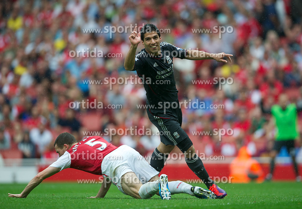20.08.2011, Emirates Stadium, London, ENG, PL, FC Arsenal vs Liverpool FC, im Bild Liverpool's Luis Alberto Suarez Diaz celebrates scoring the second goal against Arsenal during the Premiership match at the Emirates Stadium, EXPA Pictures © 2011, PhotoCredit: EXPA/ Propaganda/ D. Rawcliffe *** ATTENTION *** UK OUT!