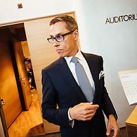 HSPO 20140826 Suurlähettiläspäivät. Pääministeri Alexander Stubb. Kuva: Benjamin Suomela HS