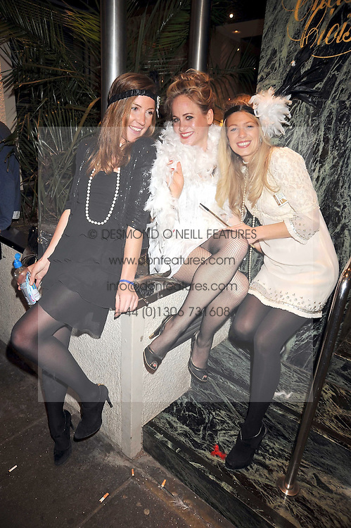 Left to right, LAURIE PERCEPIED, GENAVIEVE ALEXANDER and ZOE GRAHAM at a party for Glenmorangie hosted at Barts,  Sloane Avenue, London on 26th March 2009.