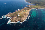 Cape Leeuwin Lighthouse. is situated at the most south westerly tip of Australia, standing at the point where the Indian and Southern Oceans meet - 8 kilometres west of Augusta.