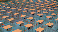 chairs and desks