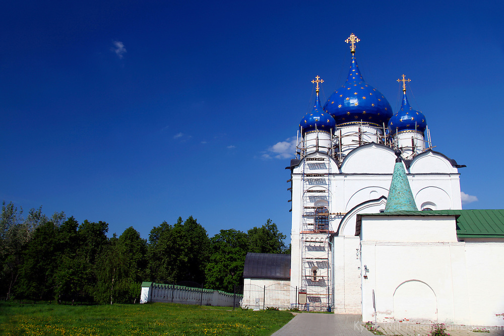 Europe, Russia, Suzdal. Cathedral of the Nativity complex, a UNESCO World Heritage SIte.