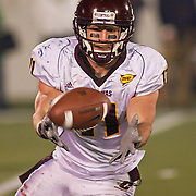 Central Michigan WR (#11) Cody WILSON fielding the punt on a on a brisk Saturday afternoon at Marine Corps Memorial Stadium in Annapolis Maryland...Navy improves to 7-3, Navy will return home November 20 to face Arkansas State.