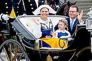 kroon prinses  Victoria en Prinses Estelle en prins Daniel nationale feestdag savonds