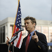 Friday, April 15, 2011 during a Tax Day protest organized by the Southern Kentucky Tea Party at Fountain Square Park in Bowling Green, Ky. Sen Rand Paul was the featured speaker to a crowd of several hundred people.(AP Photo/Daily News, Joe Imel)