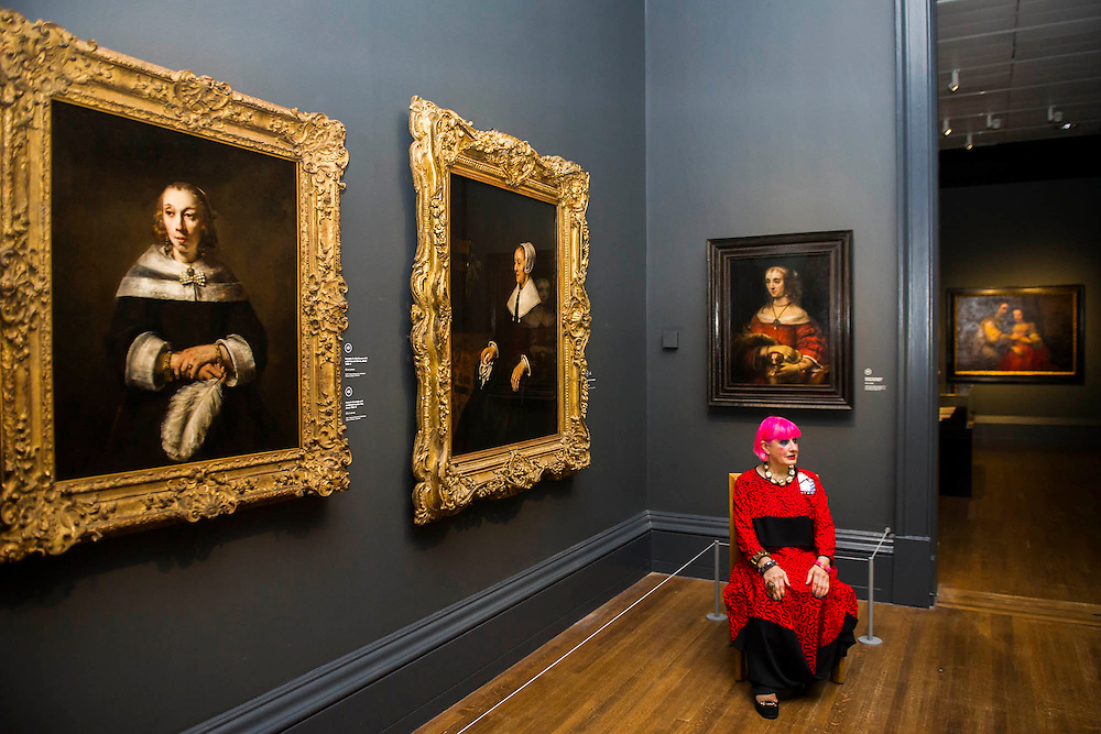 Rembrandt Exhibition Shell : Zandra rhodes and rembrandt national gallery london