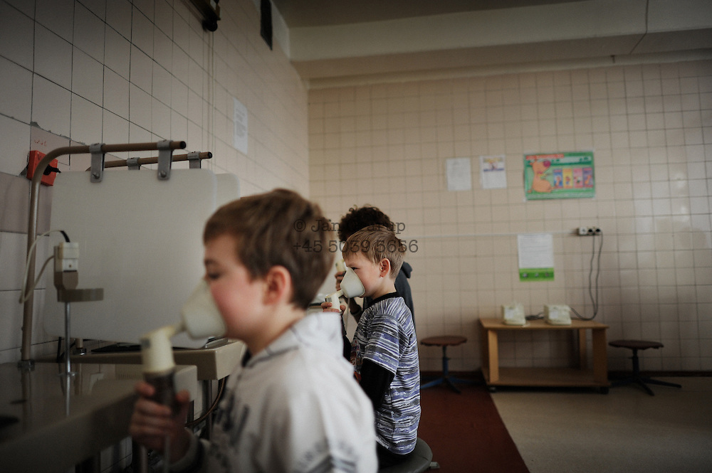 Ukraine -<br /> 25 years after Chernobyl... a photographic investigation on the concequences og the disaster. Images showing dailylige in Ukraine - childrens hospitals, mental hospitals for liqvidators - villages close to the Belarus border. More captioninfo will follow to all images. more images to be send.