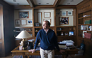 Bob Grady in the study of his home in Jackson, Wyoming. Grady was a speechwriter for Vice President President George H.W. Bush and authored the Clean Air Act of 1990.