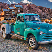1950s Chevrolet 3800 Truck At Sunset - Eldorado Canyon - Nelson NV - HDR