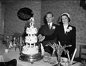 1953 - Wedding of Mr. J. Burke and Miss Maura O'Brien,  at St. Michael's Church Inchicore