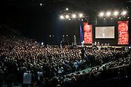 MILANO. DIMETTITI PER UN'ITALIA LIBERA E GIUSTA MANIFESTAZIONE   ORGANIZZATA DALL'ASSOCIAZIONE NO PROFIT LIBERTA' E GIUSTIZIA PER CHIEDERE LE DIMISSIONI DEL CAPO DEL GOVERNO ITALIANO SILVIO BERLUSCONI. I DIECIMILA PARTECIPANTI ALL'INTERNO DEL PALA SHARP DI MILANO;