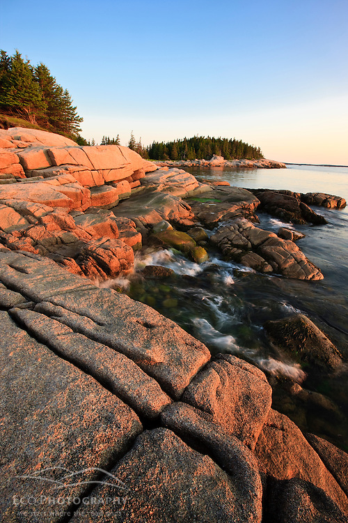 Early morning on the coast of Maine's Great Wass Island near Jonesport. Nature Conservancy preserve.