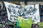 DEN HAAG - ADO Den Haag - Feyenoord , Voetbal , Eredivisie , Seizoen 2016/2017 , Kyocera Stadion , 19-02-2017 , eindstand 0-1 , Spandoek bij opkomst van de spelers