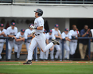 Ole Miss' Braxton Lee (11) scores vs. Arkansas-Pine Bluff at Oxford-University Stadium in Oxford, Miss. on Wednesday, April 2, 2014.