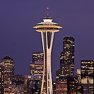 Seattle Space Needle, Located at the Seattle Center, from Kerry Park,  Washington, USA