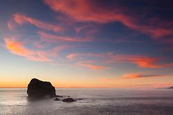 """Plaskett Rock at Sunset 4"" - Photograph of Big Sur's Plaskett Rock at sunset."
