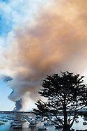 Fort Ord Controlled Burn As Seen From Old Fisherman's Wharf, Monterey, California