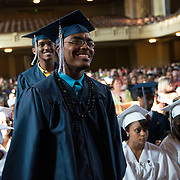 The 2013 commencement graduation ceremony for Achievement First Amistad High School is held at Woolsey Hall on the Yale University Campus in New Haven, Connecticut on June 20, 2013. <br /> <br /> Photo by Angela Jimenez for Achievement First <br /> www.angelajimenezphotography.com