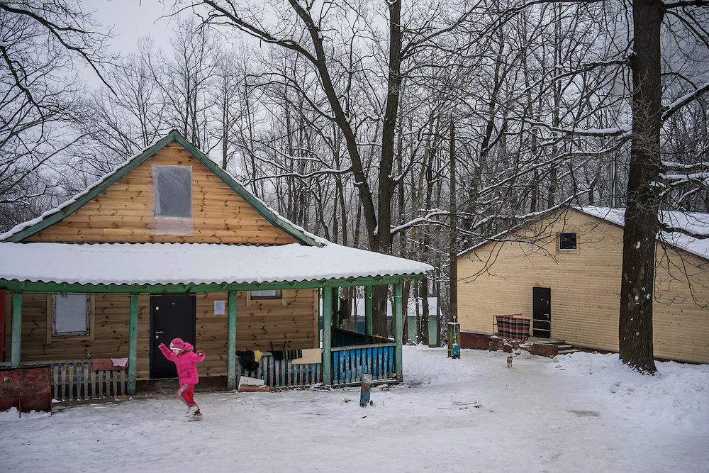 Romashka, a summer camp where several hundred people live after being displaced by fighting in Eastern Ukraine on Friday, February 13, 2015 in Kharkiv, Ukraine.