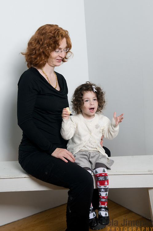 David Lipkin and family are photographed in a studio family portrait at the Brooklyn Arts Exchange for the annual holiday photo shoot fundraiser in Brooklyn, New York on November 13, 2011. ..Photo by Angela Jimenez .www.angelajimenezphotography.com