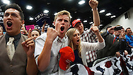 Republican Presidential candidate Donald Trump  supporters cheer during a rally, May 27, 2016 in San Diego, Calif.
